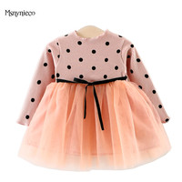 Infant Dresses For Girls Autumn 2017 Brand Casual Princess Dress Long Sleeve 1 Year Birthday Party