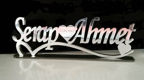 Personalized Mr And Mrs Signs Decor Name Plaque Custom Wedding Plate Bridal Family In Plaques From Home