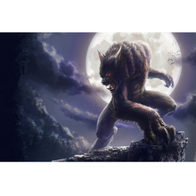 Full Square Drill 5D DIY Werewolf diamond painting Cross Stitch 3D Embroidery Kits home decor H125 full square drill 5d diy seaside volcano moon diamond painting cross stitch 3d embroidery kits h118