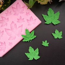 4YANG Maple Leaf Cake Silicone Mould Chocolate Dry Pace Fondant Molding Sugar for Baking Fonfant