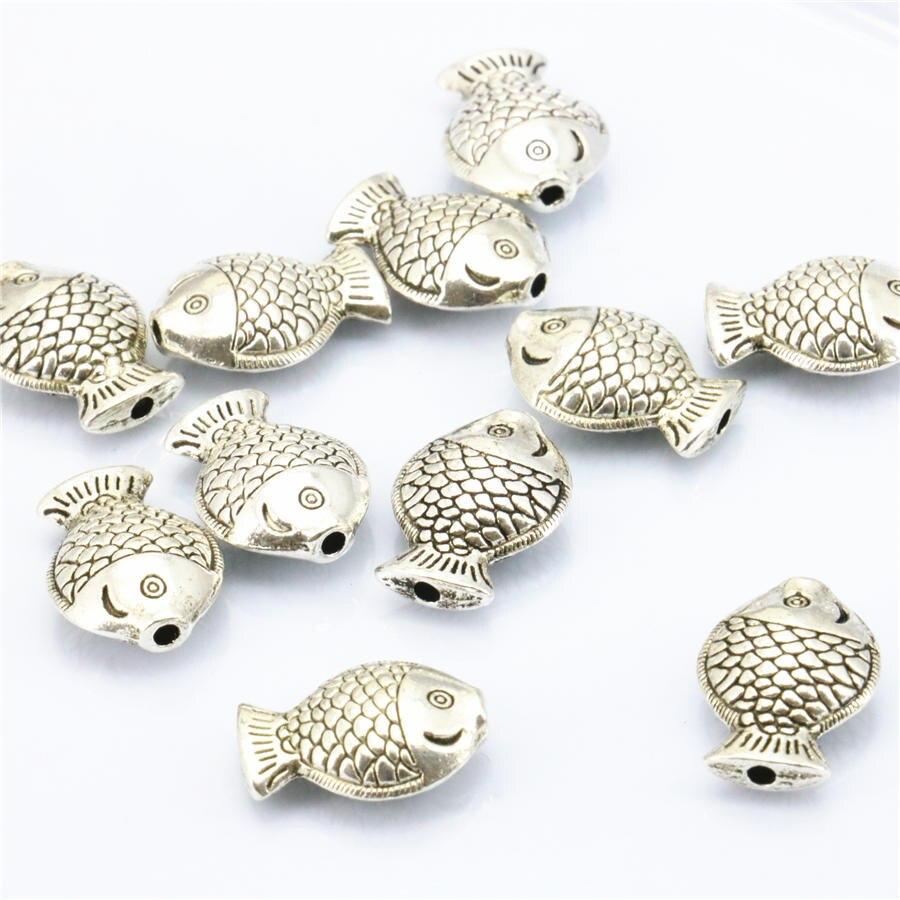 10 UNIDS Accesorios de Cobre de Metal Lucky Fish DIY Loose Mujeres Niñas Regalos