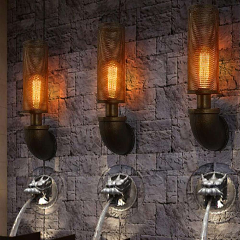 New Arrival Retro Style Restaurant Coffee Shop Decoration Iron Wall Lamp 40W E27 Corridor Bedside Wall Sconces Lighting europe retro wrought iron wall lamp k9 crystal branch restaurant rural bedroom wall lamp cafe bar coffee shop hall store club