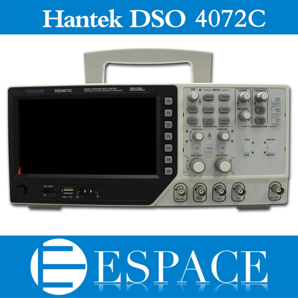 Hantek Dso4072c 2 Channel Digital Oscilloscope 1 Arbitrary Function Generator Waveform 70mhz 40k 1gs S Free Dhl In Oscilloscopes From Tools On