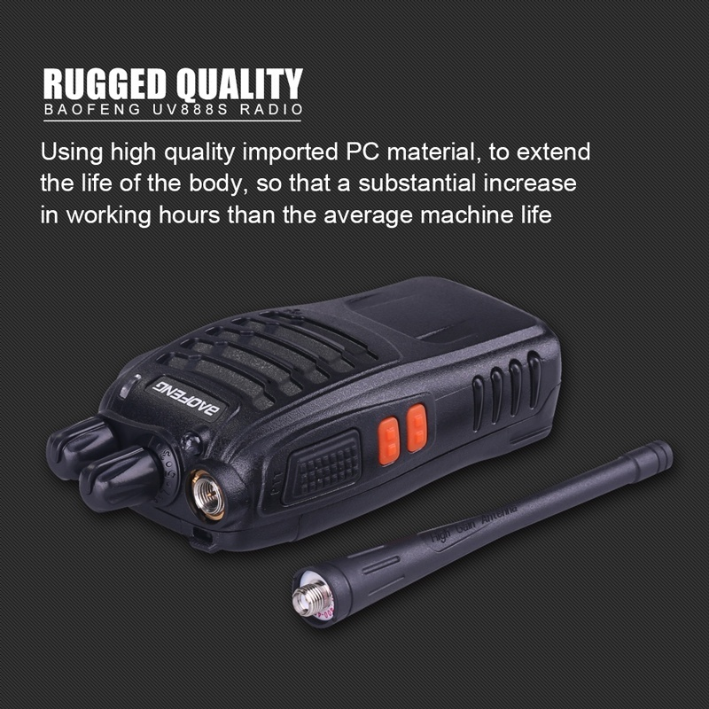Image 4 - 3PCS Baofeng BF 888S Two Way Radio BF 888S 6km Walkie Talkie 5W Portable CB Ham Radio Handheld HF Transceiver Interphone bf888S-in Walkie Talkie from Cellphones & Telecommunications