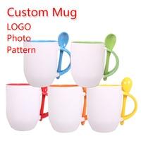Custom Made You Name Design Photo Coffee Mug DIY Color Ceramic Cup Logo Office Beer Cups