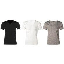 Sports Bras Men Slim Fit Cotton V-Neck Short Sleeve T-Shirt Tops Hot Newest