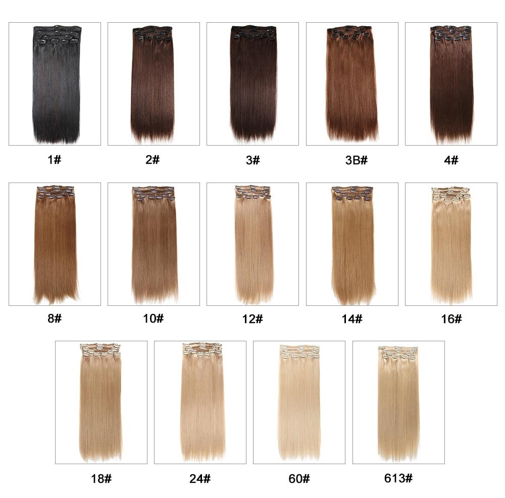 LABA MATIEM Straight Brazīlijas 100% Virgin Hair Clip cilvēka matu - Cilvēka mati (baltajiem) - Foto 5