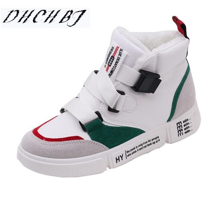 8c1d716939d627 Chaussures up Femmes Beige noir Plate Taille Chaud Appartements En Nouvelle  D'hiver blanc Pu 40 35 Peluche Casual forme Mode Dentelle Cuir De Sneakers  ...