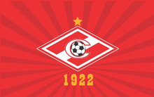 Football club flag FC Spartak of Moscow city, version of 1922 Large Indoor Outdoor Flag 3′ x 5′ Banner metal holes Custom Flag