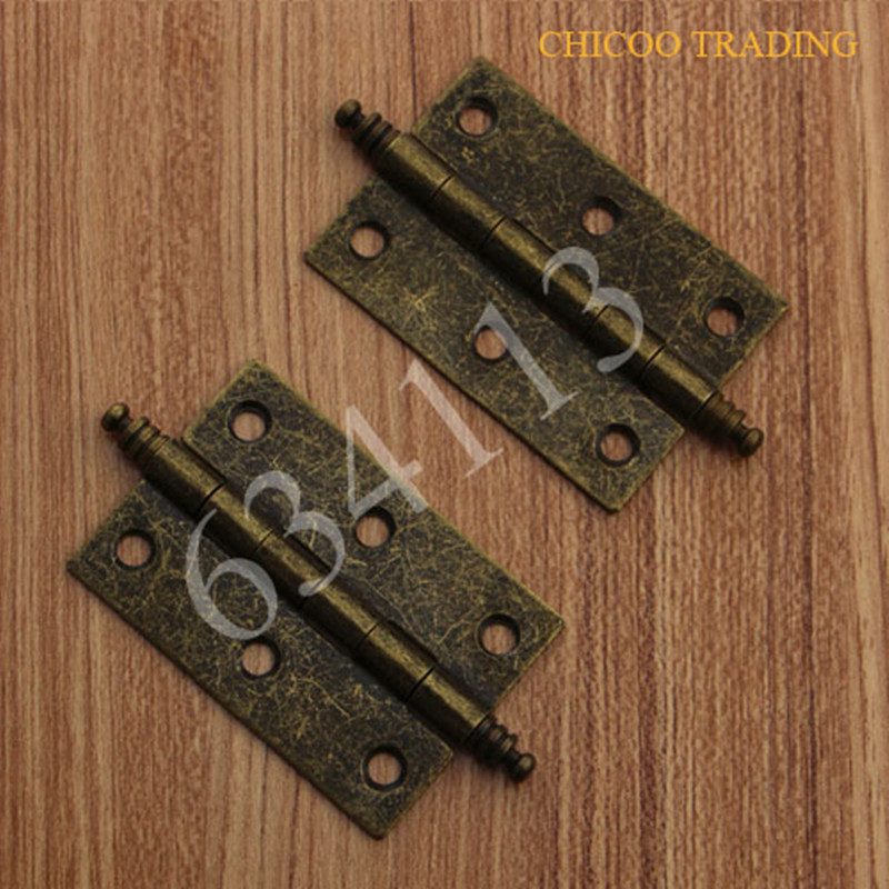 Door Butt Hinges Antique Brass Furniture Hinge 63x41mm