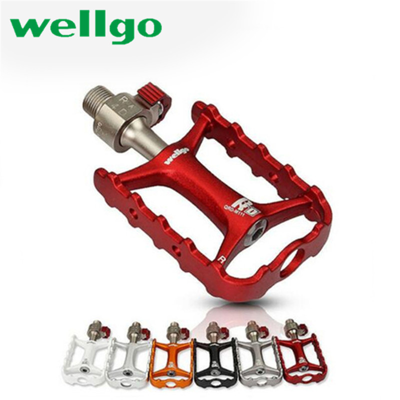 Wellgo M111 Bicycle Pedals Non-quick Release Newest Original Ultralight Road Bike Pedal MTB Bearing Bicyc;e Parts Cycling Pedals цена