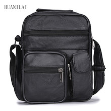 HUANILAI Mens Bags High Capacity Messenger Shoulder For Men Genuine Leather Business Handbags TY005