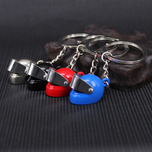 HOMOD Personality Racing car Helmet Keychain Fashion Creative Motorcycle Bicycle Casque Key Chain Ring Keyring Keyfob Key Holder