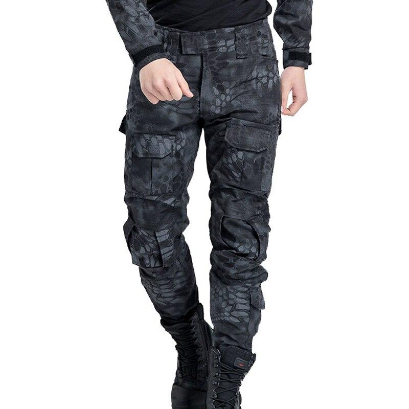 Haute qualité Camouflage tactique pantalon guerre jeu Cargo pantalon hommes pantalon US armée militaire Active pantalon Combat soldat pantalon