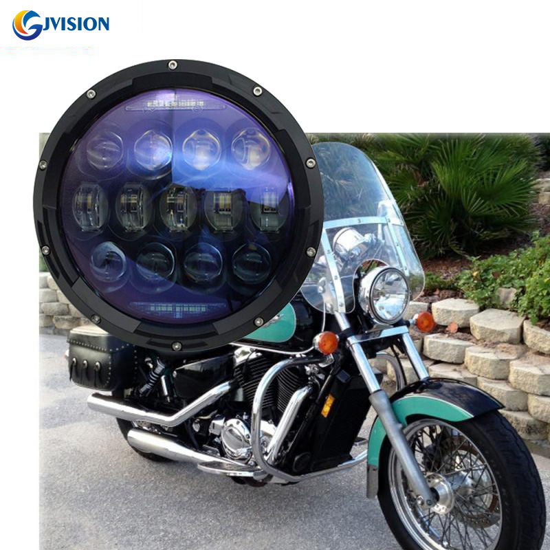 Motobike headlight 130W 7inch Angel eyes DRL Turn signal lights H4 LED Driving lights for Harley Street Glide Softail FLHX FLD