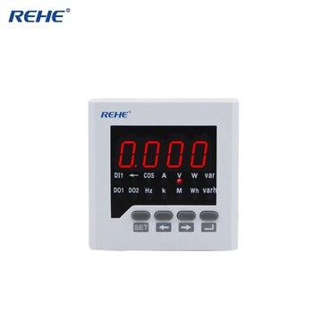 REHE RH-D71 80*80 мм интеллектуальный Аналоговый амперметр переменного тока Электрический автометр монитор мощности многофункциональный измерит...