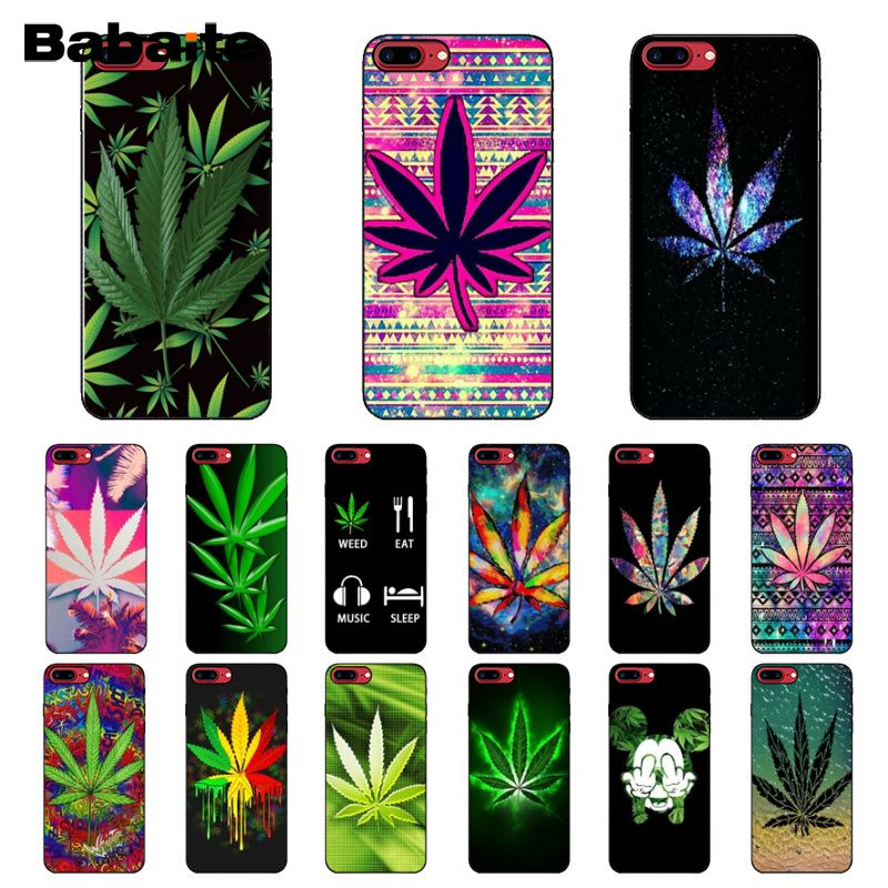 Half-wrapped Case Cellphones & Telecommunications Yinuoda Abstractionism Art High Weed Novelty Fundas Phone Case Cover For Apple Iphone 8 7 6 6s Plus X Xs Max 5 5s Se Xr Cases