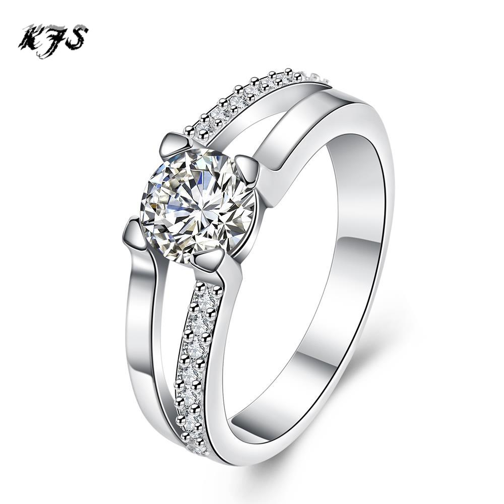 Latest Design Silver Plated Rings Jewelry Exquisite Personalized G Setting Cz Diamonds Ring Female Wedding In From Accessories On