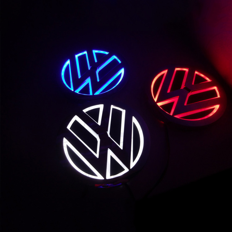 1 Piece 5D led car logo lights car badge sticker auto bulb Emblem Lamp for Volkswagen