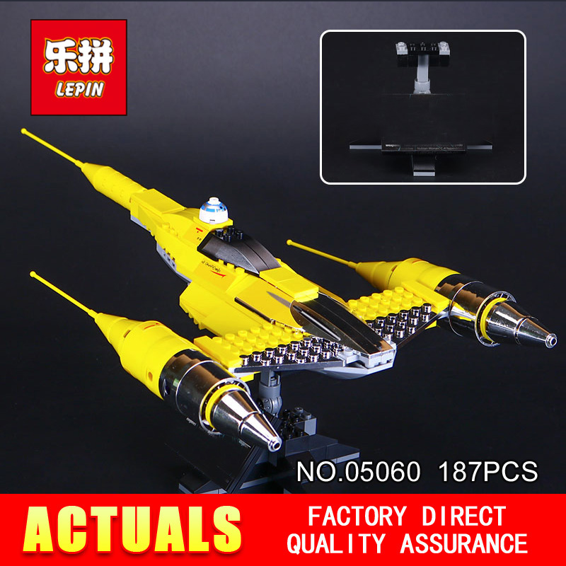 New Lepin 05060 187Pcs STAR The Rogue One USC Naboo Style Fighter Set 10026 Building Blocks Bricks Educational Toys WARS star wars 187pcs lepin 05060 fighter set educational building blocks bricks toys model 10026 for children gifts