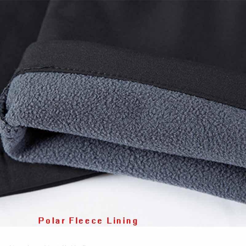 Pantalons de randonnée chauds pour femmes pantalons de survêtement en extérieur à coque souple doublure polaire pantalon d'hiver nouvelle dame pantalons de Camping Trekking - 4