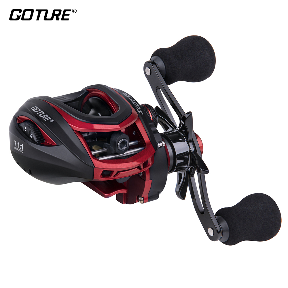 Goture SCOTTA 8kg Big Drag Anti-corrosion Baitcasting Reel 7.1:1 High Speed Bait Casting Fishing Reel Magnetic Or Dual Brakes