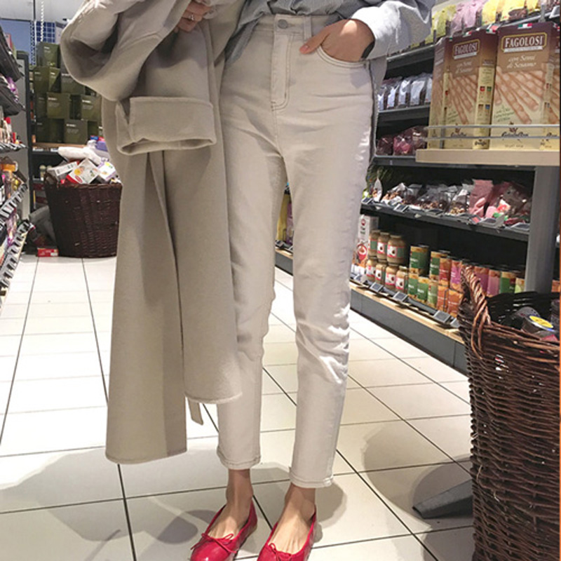 Summer Style Stretch White   Jeans   Women Jeggings Cool Denim High Waist Pants capris Female Skinny Casual   Jeans   2018