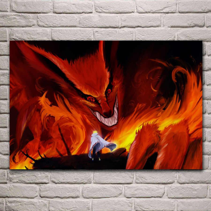 Kyuubi Naruto Anime Keren Rakasa Fantasi Wallpaper KC683 Ruang Tamu Dinding Modern Seni Dekorasi Bingkai Kayu.jpg q50