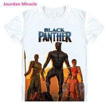 Marvel black panther T shirt Avengers black panther T-Shirt Super heros Custom Made 3D Print Chadwick Boseman short Tee Shirt