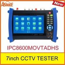 "IPC-8600MOVTADHS 7"" Touch Screen IP Camera CCTV Test Analog AHD TVI CVI SDI Camera Tester TDR /OPM/ MULTI/ VFL test ONVIF/WIFI"