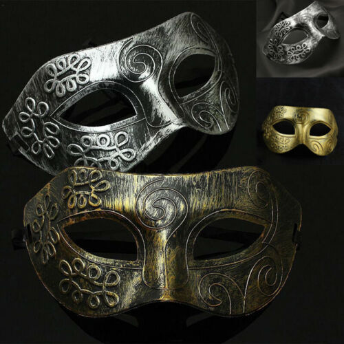 Womens Men  Sexy Eye Gold Or Silver Face Mask Masquerade Party Ball Prom Costume