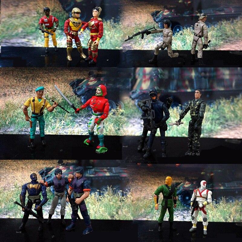 15 Pcs/Set Lanards Elite Force 1:18 Military Action Figure Doll Statue 3.75 Inch Japanese ninja warrior Navy Seals