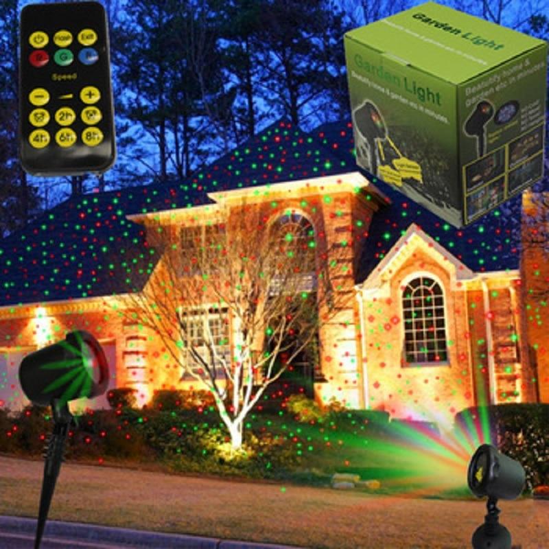 ФОТО Manxuan waterproof IP65 Christmas laser disco light new star  laser projector shower for home patio garden landscape decoration