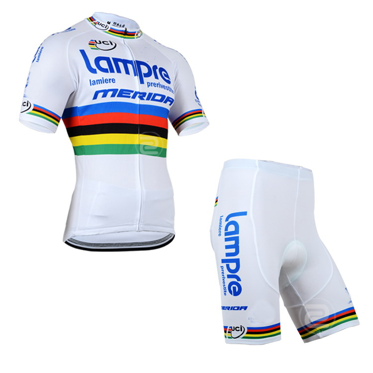 2014 Lampre Merida PRO TEAM UCI Men s Cycling Jersey Short Sleeve Bicycle  Clothing With Bib Shorts Quick Dry Ropa Ciclismo-in Cycling Sets from  Sports ... b14d77f12