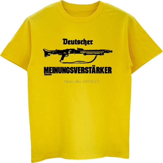 4390395c774 New Summer Cool T-shirt German Opinion Supporter Mg42 Machine Gun 7 .92 57mm