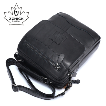 ZZNICK 2018 Spring New Arrival Genuine Leather Genuine Leather Men's Bag Shoulder Bags For Men Cross body Bag Portfolio Fashion