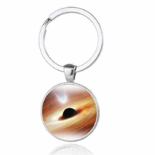 Nuovo Cosmic Planet Buco Nero Della Pietra Preziosa Keychain Anello Chiave del Metallo Del Pendente Del Regalo