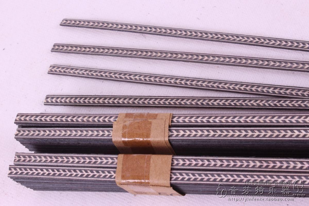 New 25 strip LUTHIER PURFLING BINDING MARQUETRY INLAY 640x6x1mm #76 new luthier tool electric violin purfling groove cutter q1