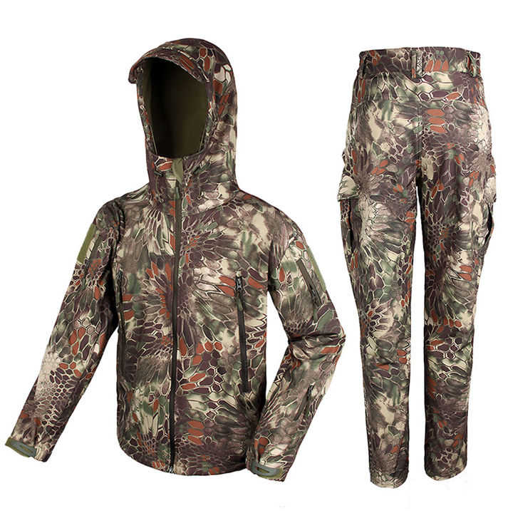 ФОТО Tactical Military Outdoor BDU Set 100D Waterproof Stretch Fabric Outerlining For Outdoor Hunting Sports CL34-0066