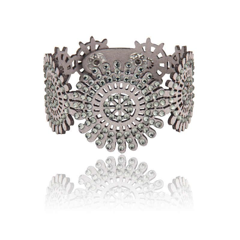 2019 אופנה חדשה בציר בעבודת יד קריסטל צמיד צמיד תכשיטי פריטים באיכות גבוהה קסם צמיד לנשים
