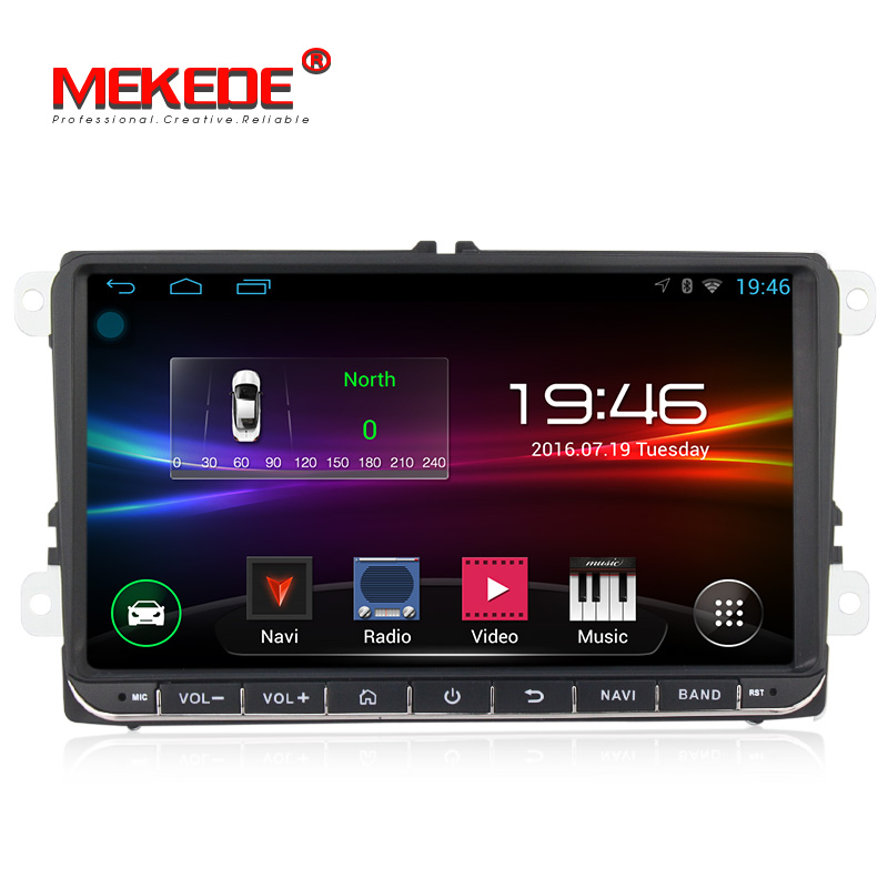 Spedizione gratuita Android Car DVD multimedia player Per volkswage golf 4 golf 5 6 touran passat B6 caddy transporter T5 wifi BT