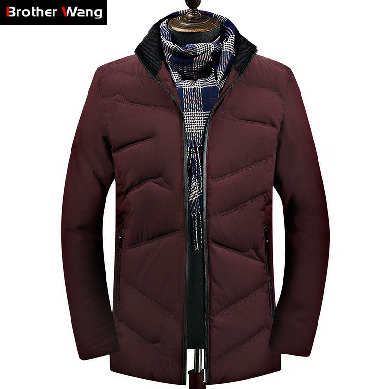 SIMWOOD New 2019 Winter Sweater Men Fashion Slim Fit Contrast Color Knit Pullover Plus Size Striped