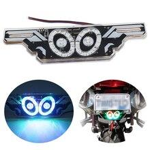 SO.K Motorcycle Decorative Lights License Plate Refitting Decoration Flashing Brack Warning Lamp