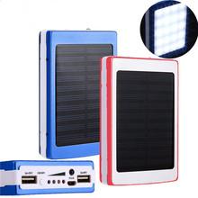 Solar LED Portable Dual USB Power Bank 5x18650 External Battery Charger DIY Box External Backup Battery H7TY0