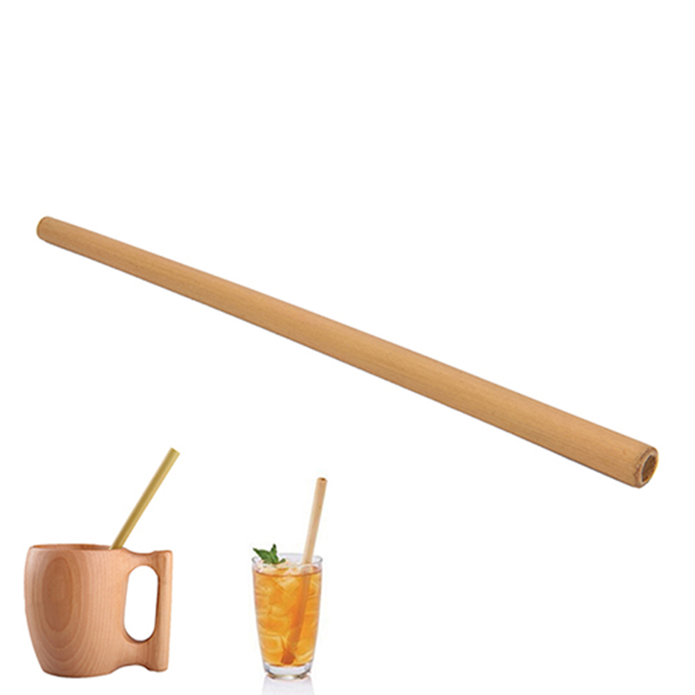 12x Bamboo Straws Eco-Friendly and Natural 12