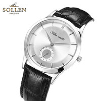 Hot Sprzedaż Mężczyźni Zegarki Top Marka Luksusowe mały druga ręka Zegar Mężczyzna Dorywczo mężczyzna Zegarka Zegarek Kwarcowy moda Skórzany pasek Na Rękę