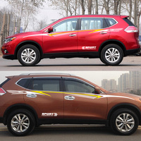 POWERED BY SRORT design car refit sticker for nissan x trail/note/juke,SUV color change DIY modified car styling decals cover