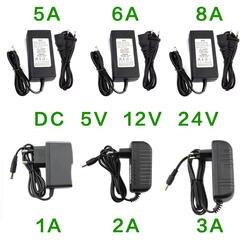 Блок питания DC 5 в 12 В 24 В 1A 2A 3A 5A 6A 8A блок питания DC 5 12 24 В вольт блок питания адаптер освещение Светодиодная полоска лампа