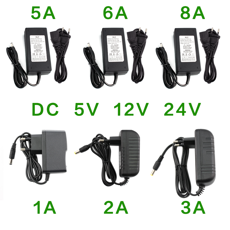 Power Supply <font><b>DC</b></font> 5V 12V 24V 1A 2A 3A <font><b>5A</b></font> 6A 8A Power Supply Adapter <font><b>DC</b></font> <font><b>5</b></font> 12 24 V Volt Power Supply Adapter Lighting Led Strip Lamp image