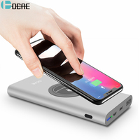 Original HOCO 10000mAh Dual USB Charging External Battery Charger Portable Mobile Power Bank With Flashlight For